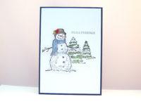 Weihnachtskarte -Schneemann- Bild 1