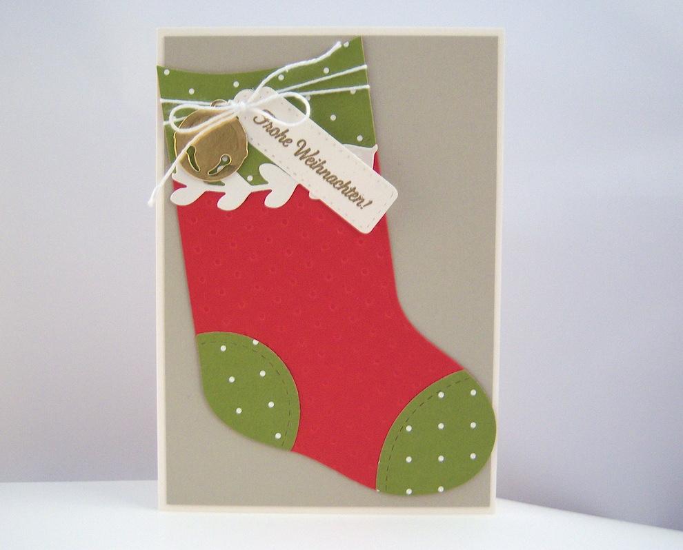 Weihnachten - Weihnachtskarte -Socke- Bild 1