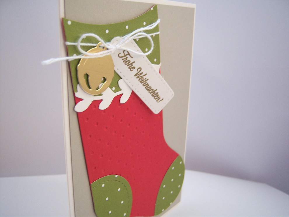 Weihnachtskarte -Socke- Bild 2
