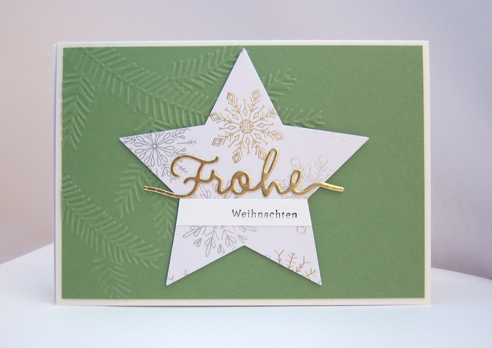 Weihnachten - Weihnachtskarte -Stern Frohe Weihnachten- Bild 1