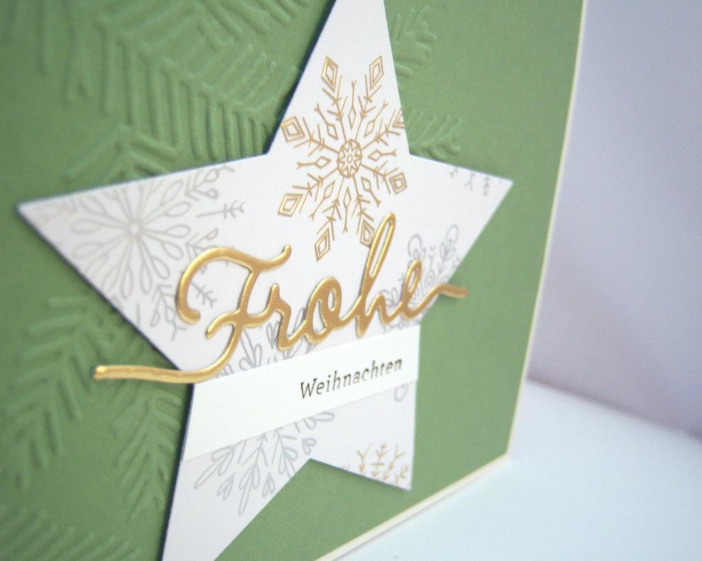 Weihnachtskarte -Stern Frohe Weihnachten- Bild 2
