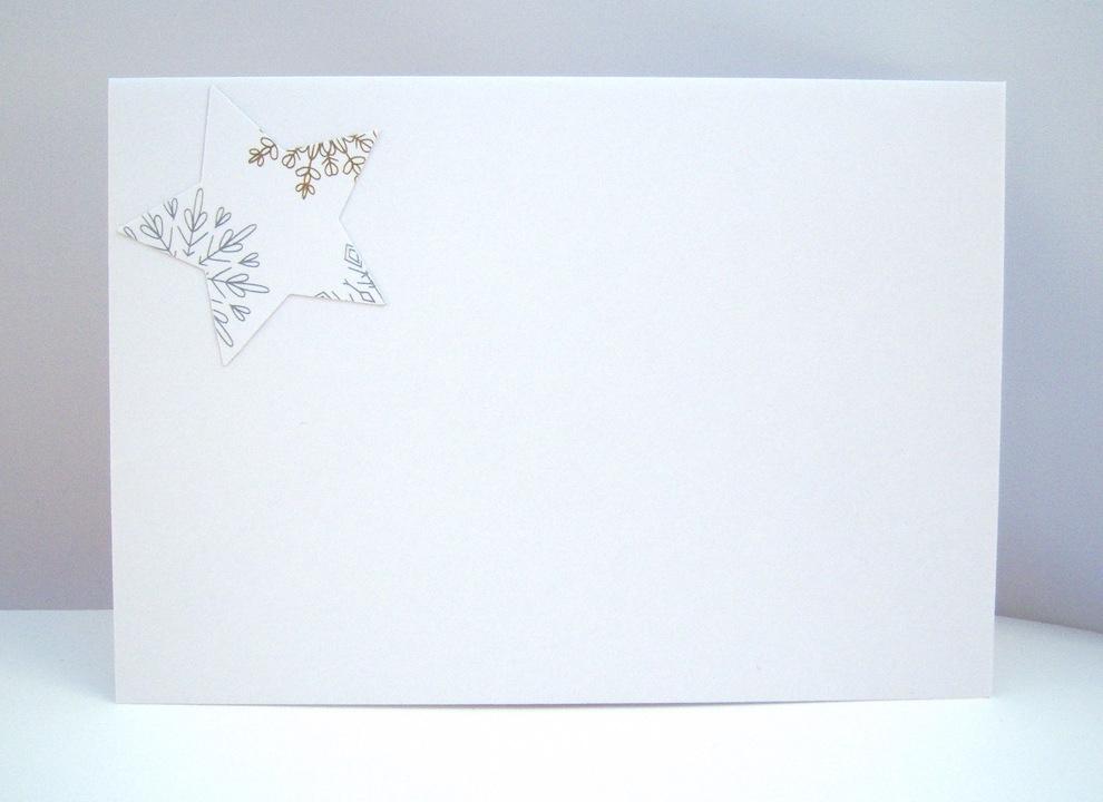 Weihnachtskarte -Stern Frohe Weihnachten- Bild 3