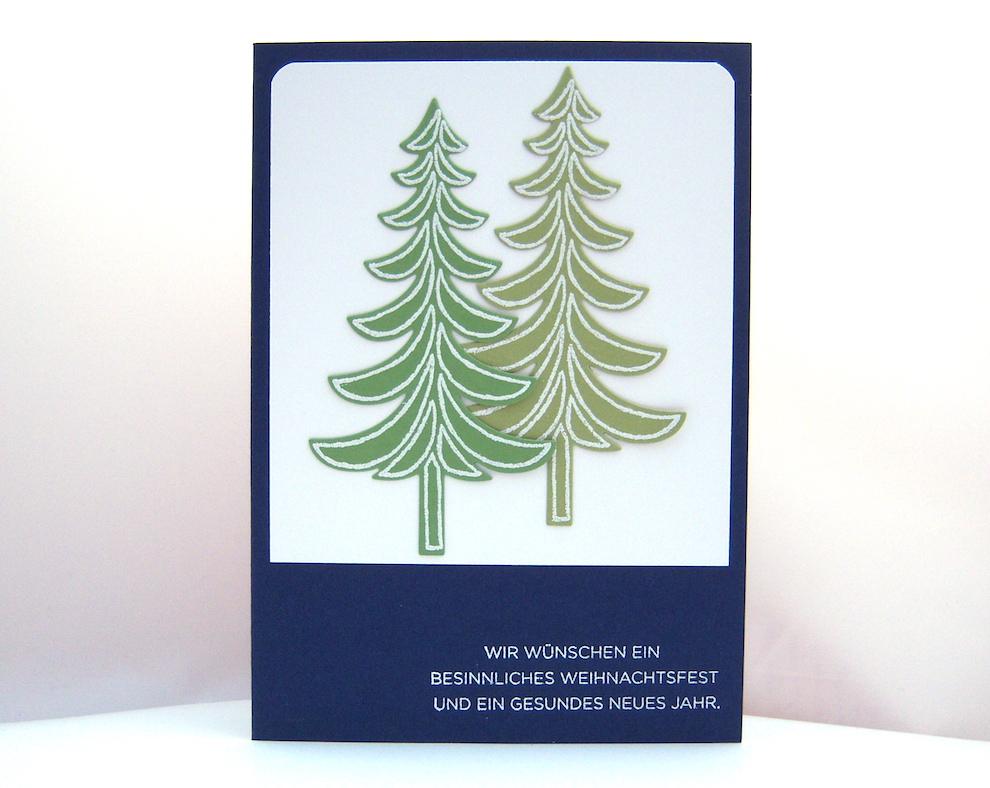 Weihnachten - Weihnachtskarte -Tannenbäume- Bild 1