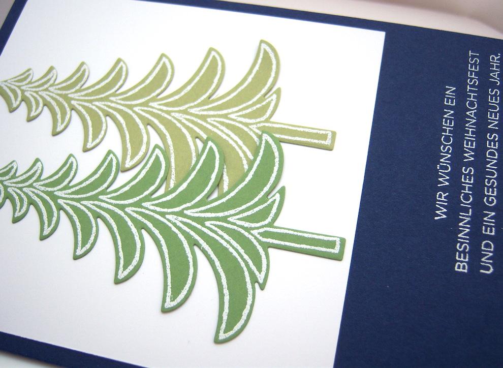 Weihnachtskarte -Tannenbäume- Bild 2