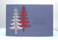 Weihnachtskarte -Tannenbäume- lila Bild 1