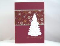 Weihnachtskarte -Tannenbaum, brombeer- Bild 1