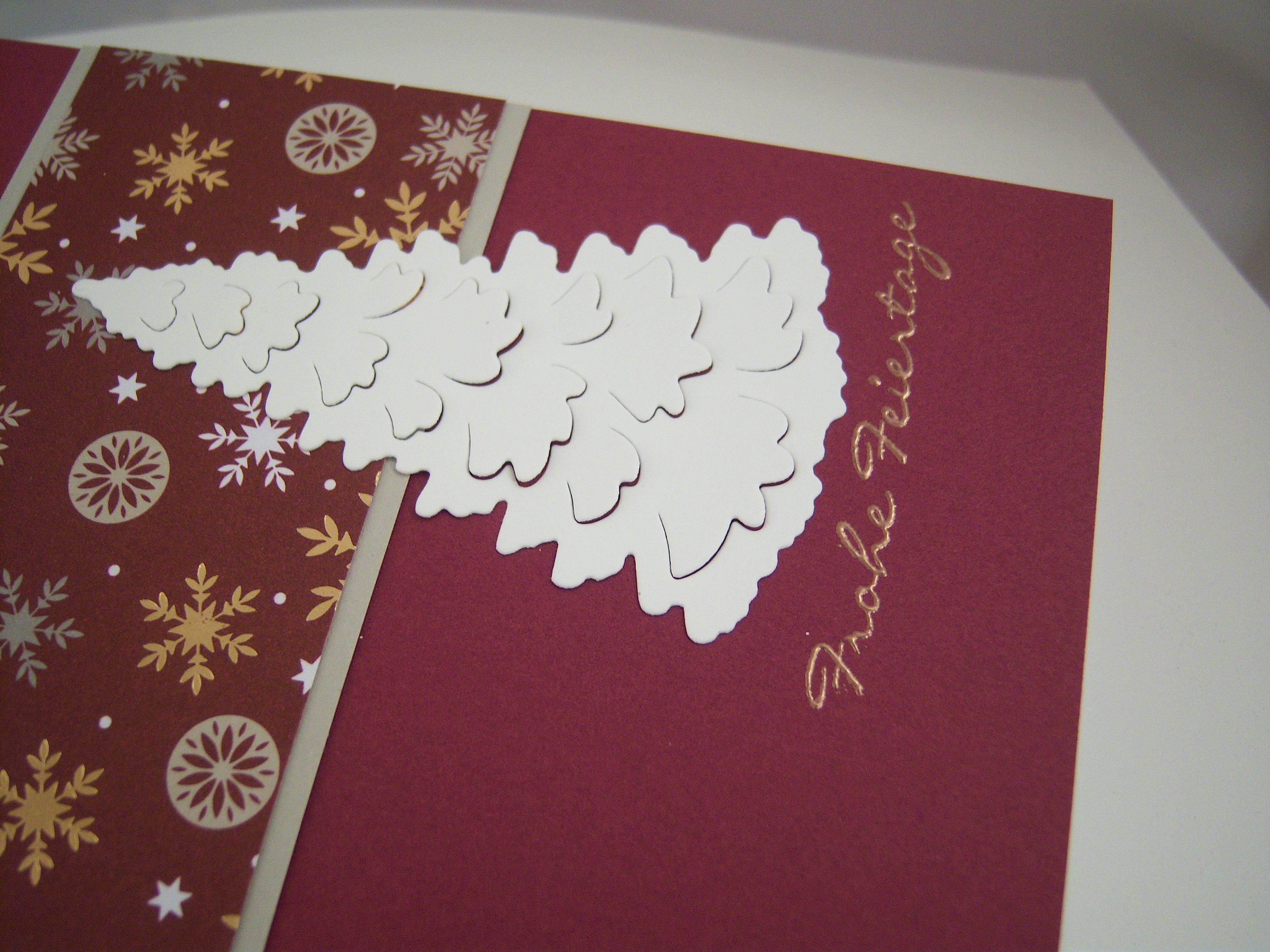 Weihnachtskarte -Tannenbaum, brombeer- Bild 2