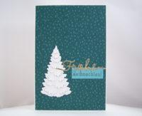 Weihnachtskarte weißer Tannenbaum Bild 1