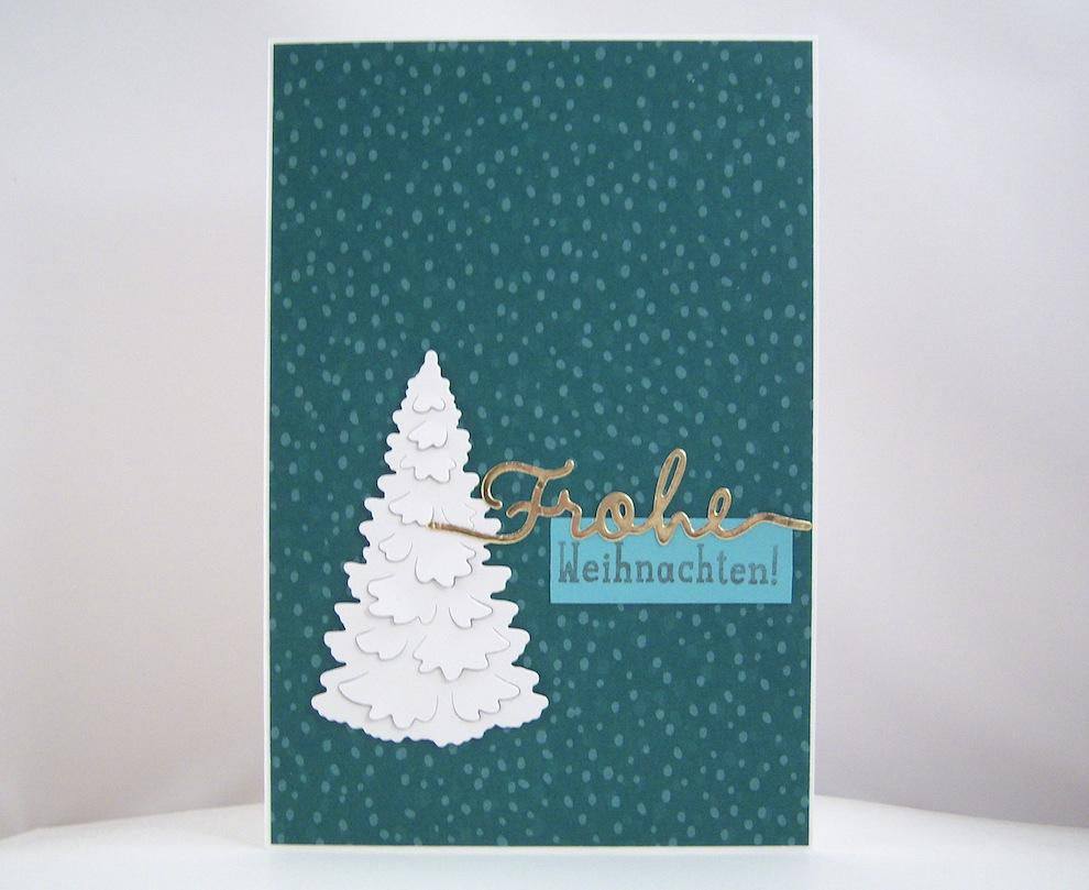 Weihnachten - Weihnachtskarte weißer Tannenbaum Bild 1