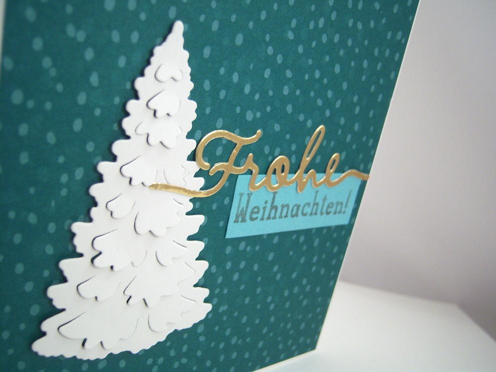 Weihnachtskarte weißer Tannenbaum Bild 2