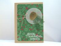Weihnachtskarte -Tannenzapfen- Bild 1