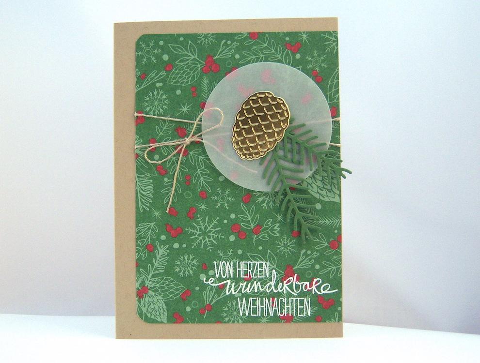 Weihnachten - Weihnachtskarte -Tannenzapfen- Bild 1