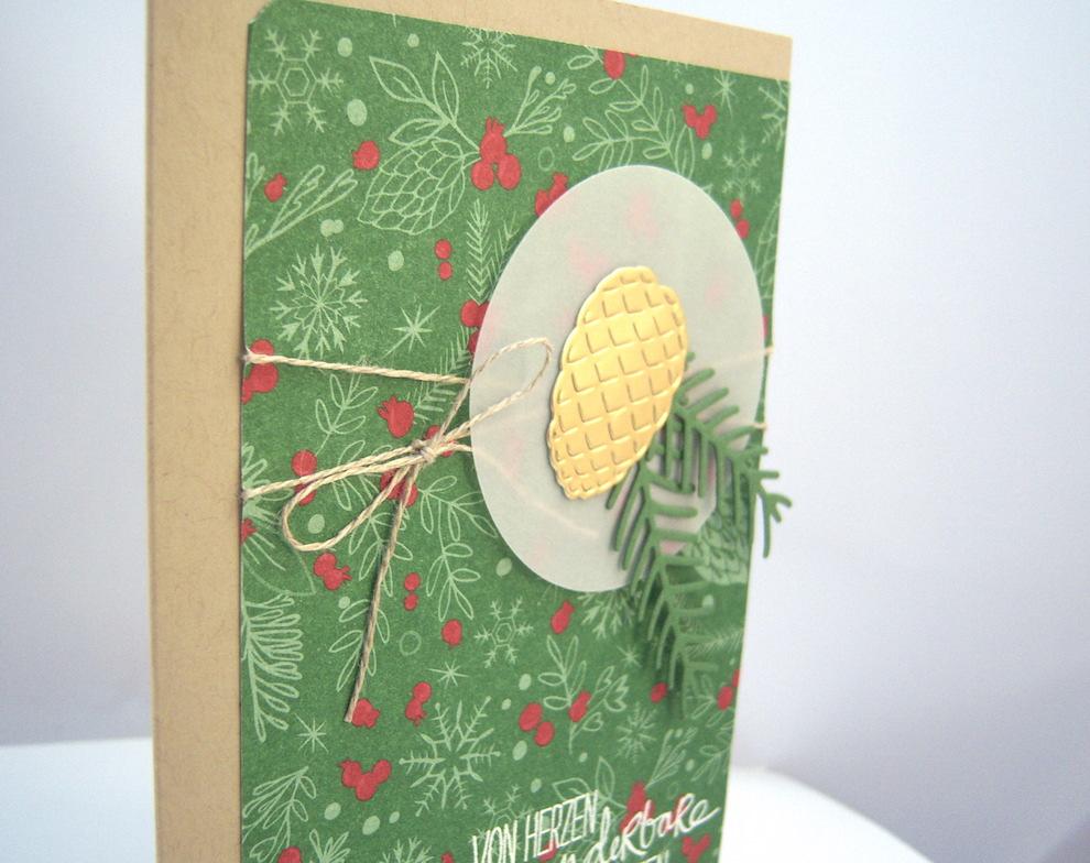 Weihnachtskarte -Tannenzapfen- Bild 2