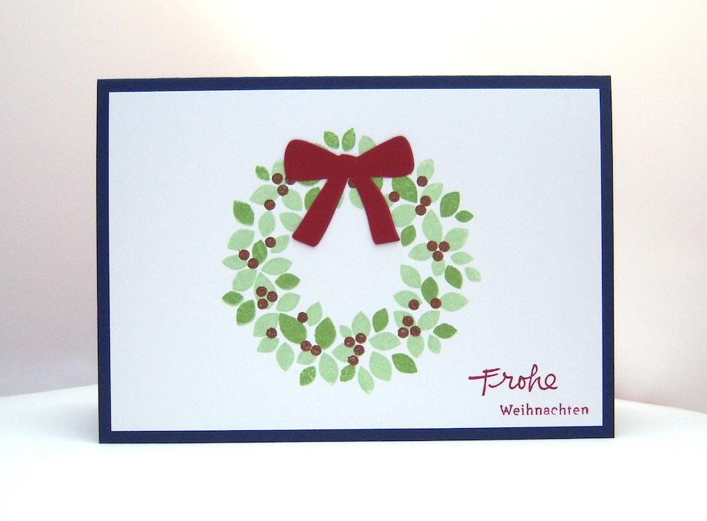 Weihnachten - Weihnachtskarte -Türkranz- Bild 1