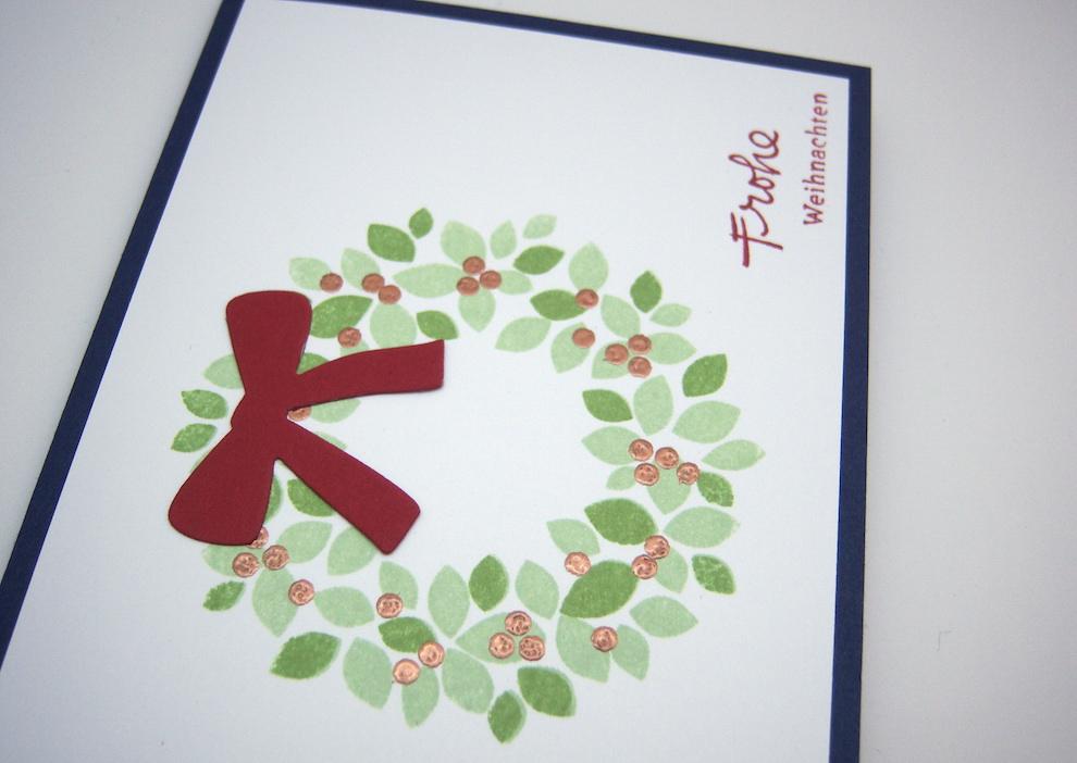 Weihnachtskarte -Türkranz- Bild 2