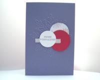 Weihnachtskarte -grosse Schneeflocke- lila Bild 1