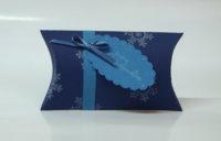 Weihnachtsverpackung Kissenverpackung blau
