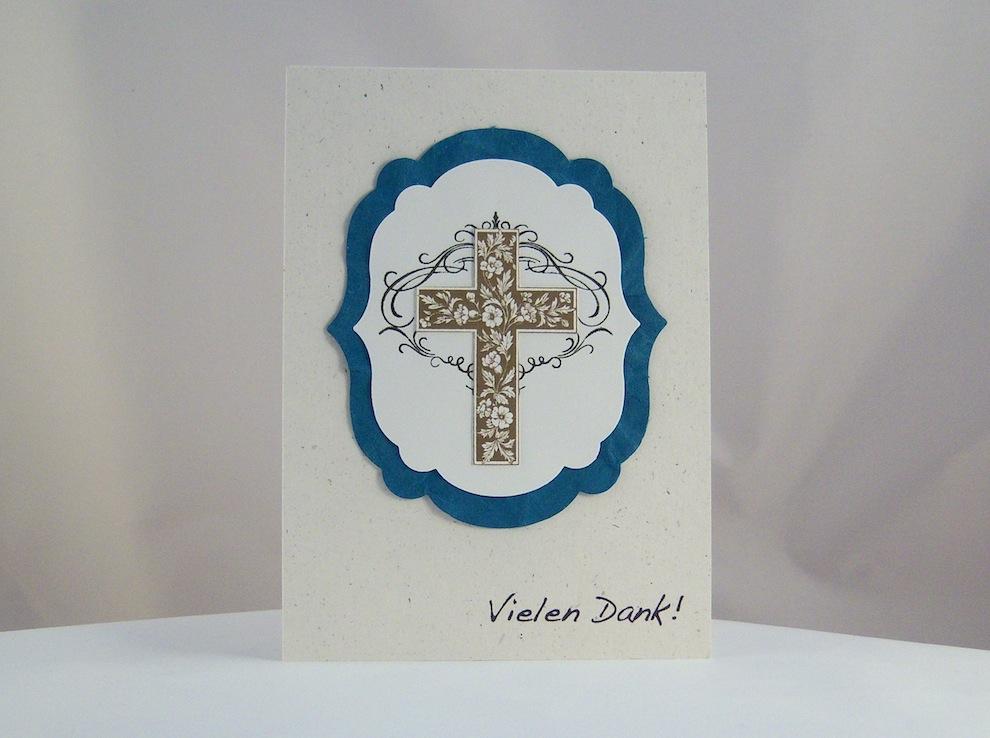 Dankeskarte zur Konfirmation/Kommunion Kreuz 2