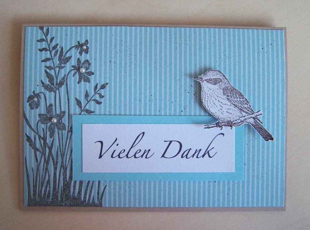 Sonstiges - Dankeskarte Vogel
