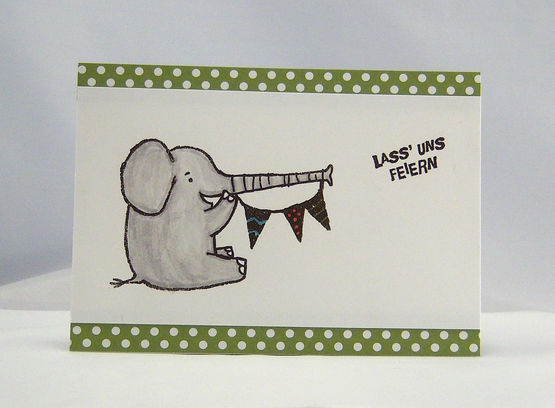 Einladung - Einladung Elefant 1