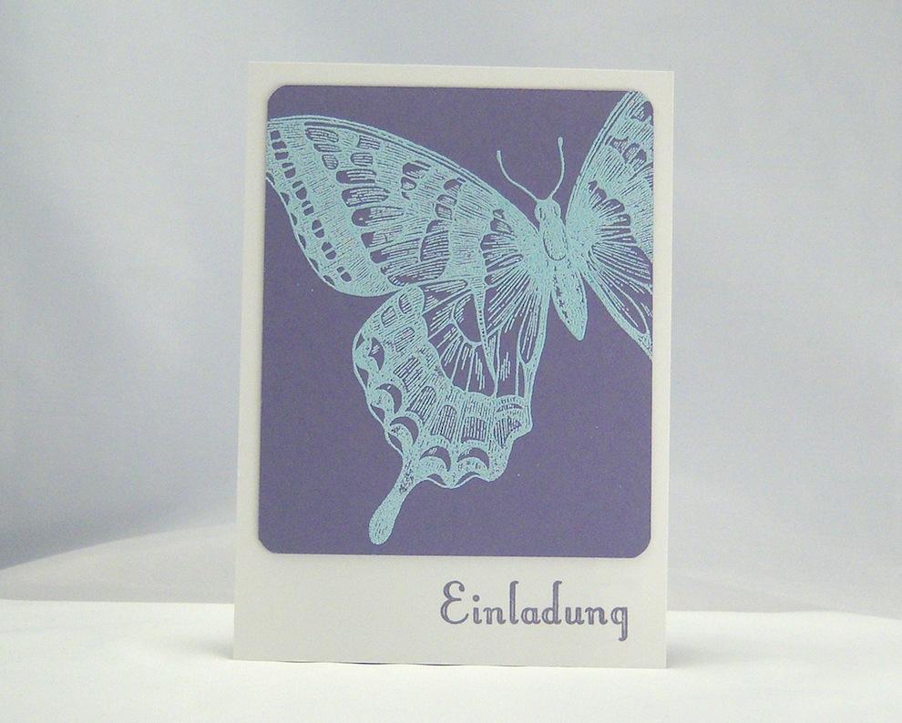 Einladung - Einladung Schmetterling 1