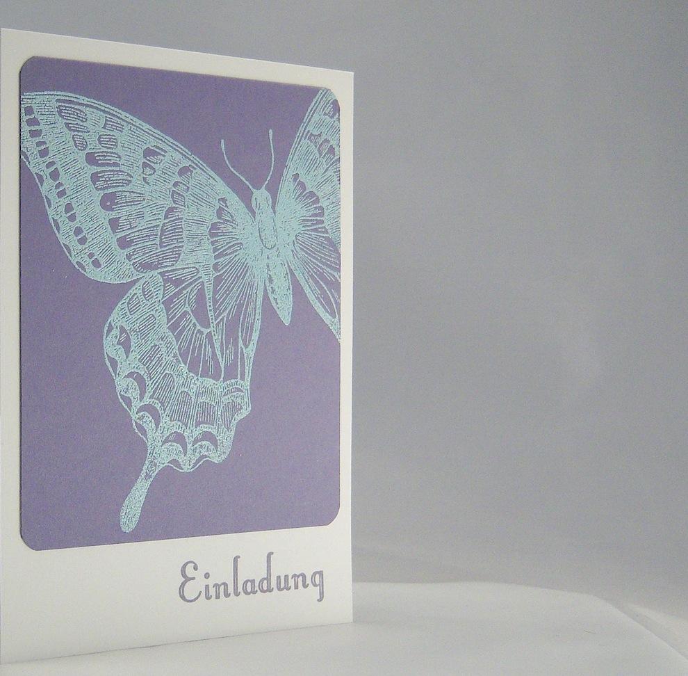 Einladung Schmetterling 2