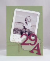 Einladungskarte 30. Geburtstag 29A Kinderfoto
