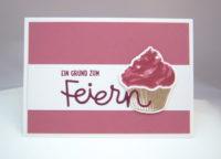 Einladungskarte Cupcake 1