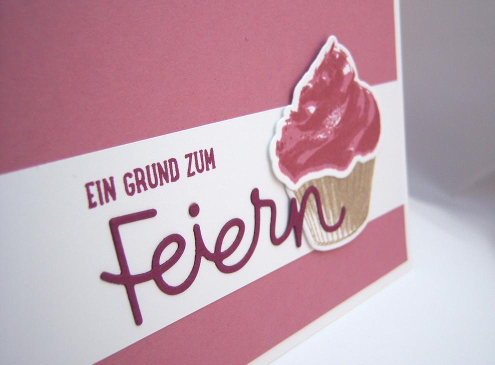 Einladungskarte Cupcake 2