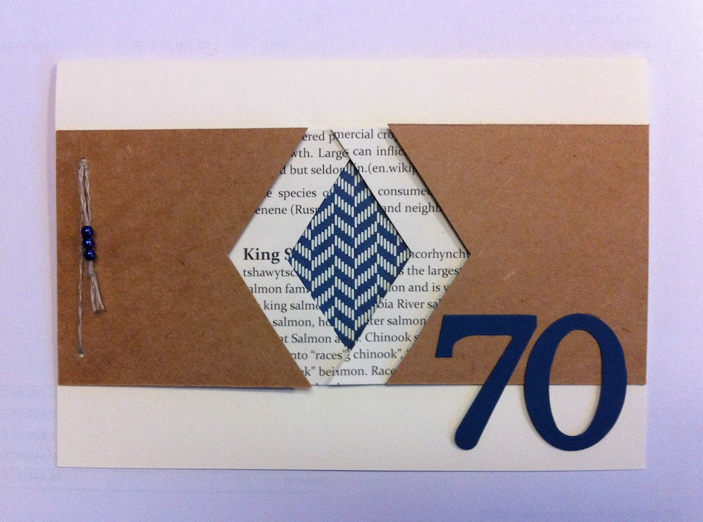 Geburtstagskarte 70ter Geburtstag Fahnen