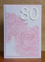 Geburtstagskarte 80ter Geburtstag Rosen