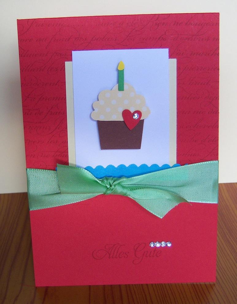 Geburtstagskarte Alles Gute Toertchen rot