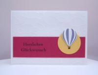 Geburtstagskarte Ballon Wolken
