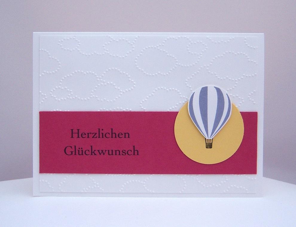 Geburtstag - Geburtstagskarte Ballon Wolken