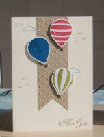 Geburtstagskarte Ballons