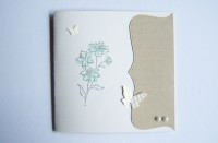 Geburtstagskarte Blume Erdfarbtoene 1