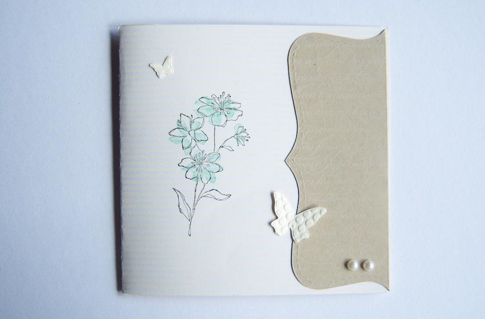 Geburtstag - Geburtstagskarte Blume Erdfarbtoene 1
