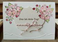 Geburtstagskarte Blumen Das ist dein Tag