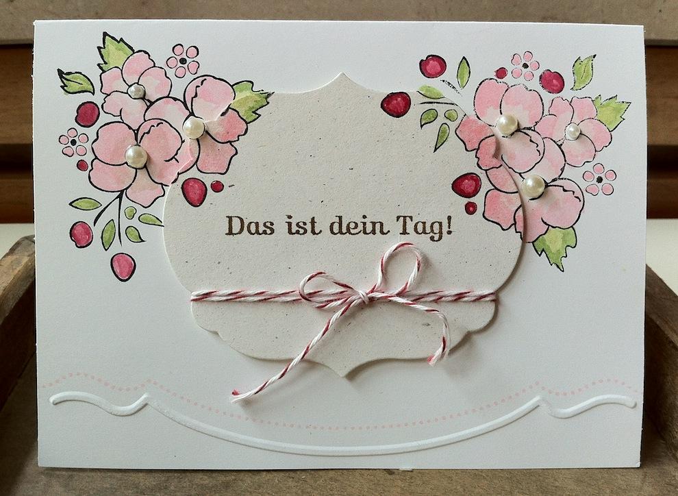 Geburtstag - Geburtstagskarte Blumen Das ist dein Tag
