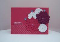 Geburtstagskarte Blumen rosa