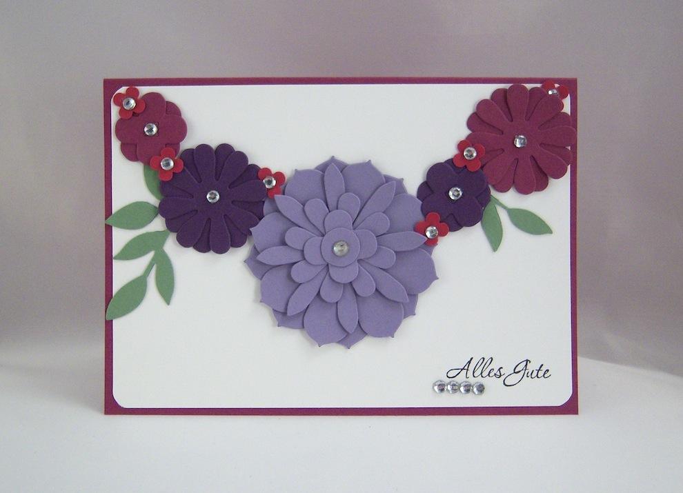 Geburtstag - Geburtstagskarte Blumengirlande