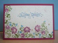Geburtstagskarte Blumenranken