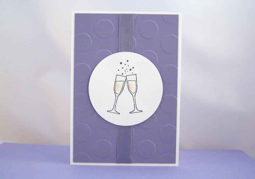 Geburtstagskarte Champagnergläser 1