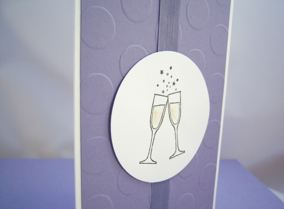 Geburtstagskarte Champagnergläser 2