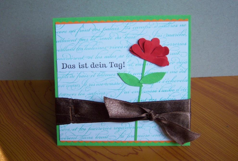 Geburtstag - Geburtstagskarte Das ist dein Tag