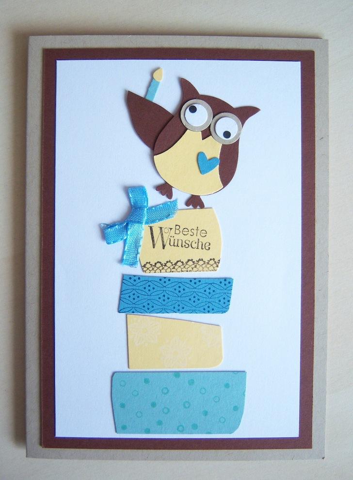 Geburtstag - Geburtstagskarte Eule Geschenke