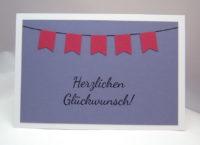 Geburtstagskarte Fähnchen-Girlande