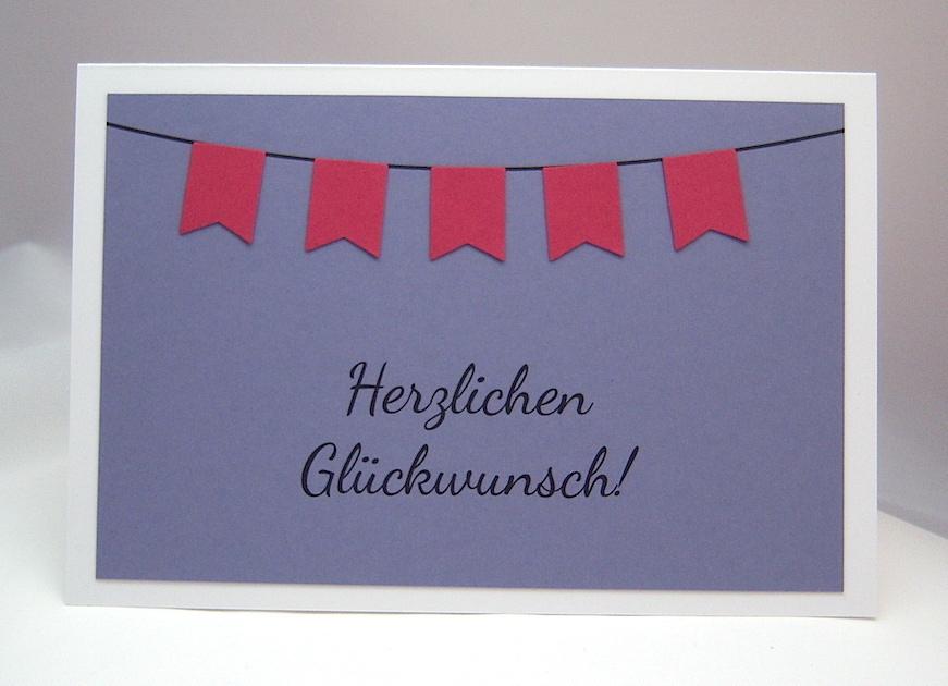 Geburtstag - Geburtstagskarte Fähnchen-Girlande