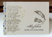 Geburtstagskarte Federn