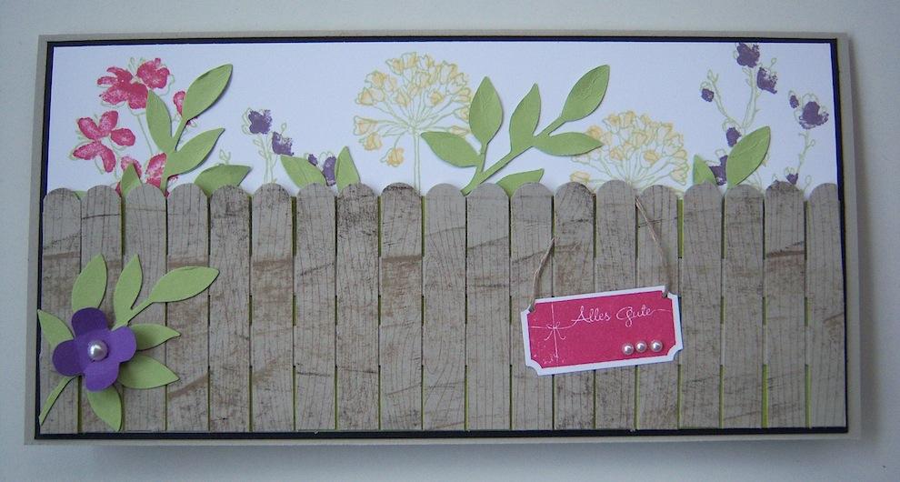 Geburtstag - Geburtstagskarte Garten Zaun